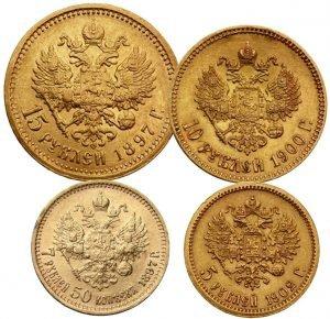 Продать золотые монеты Николая 2