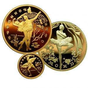 продать золотую монету балет