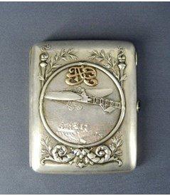 Продать антикварное серебро портсигар 84 пробы
