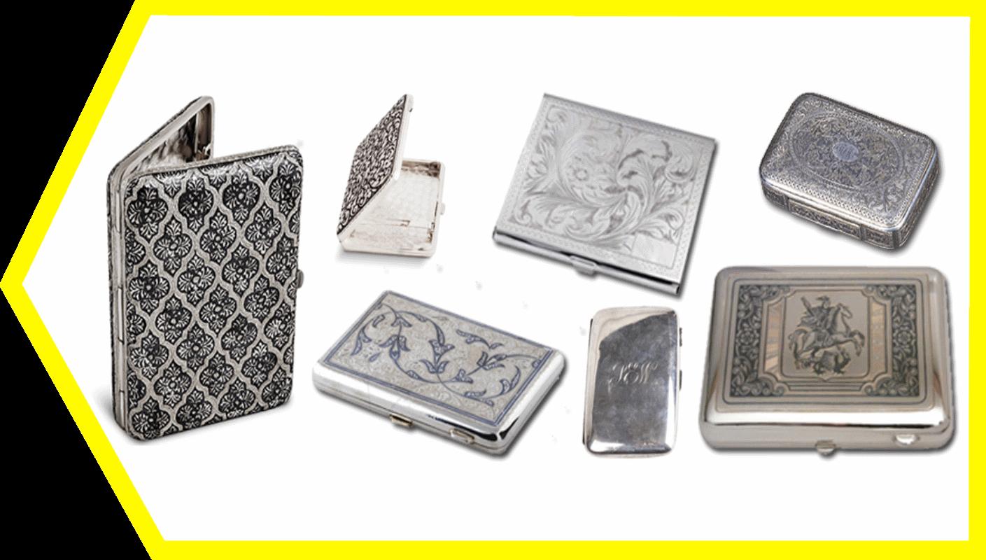 Продать портсигар серебряный