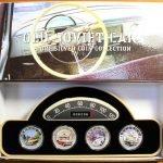 продать 2 доллара 2010 год. Набор из 4 монет. Cтарые советские автомобили. Ниуэ. Серебро,999