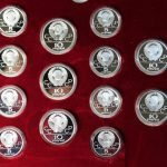 Набор монет 5 и 10 рублей Серебро. Олимпиада-80