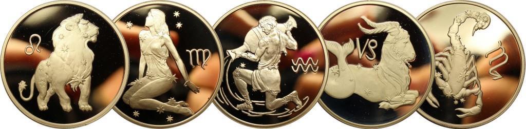 Серебряные монеты Знаки Зодиака России. 2, 3 рубля