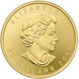 Золотая монета Кленовый лист