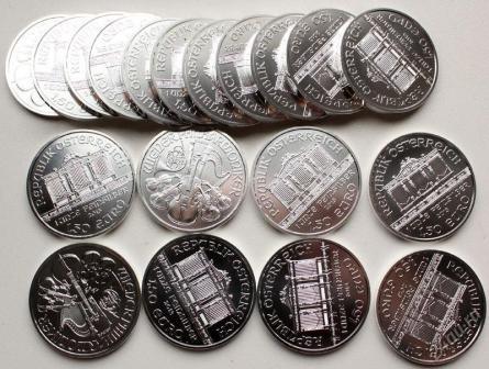 Серебряные монеты Филармоникер в наборе