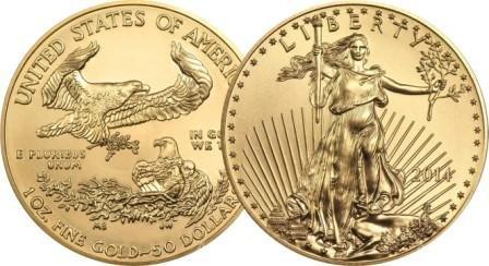 Золотая монета Орел США