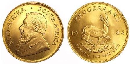 Золотая монета Крюгерранд