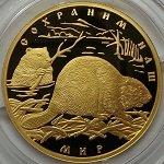 100 рублей 2008 год. Сохраним наш мир. Речной бобр