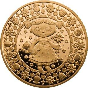 100 рублей 2011 года. Дева. Золотая монета Беларусь.