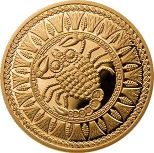 100 рублей 2011 года. Весы. Золотая монета Беларусь.